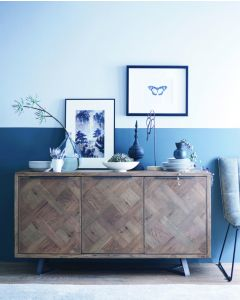 Irina Aged Grey 3 Door Sideboard