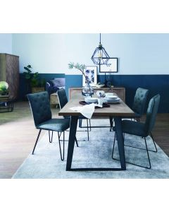 Irina Aged Grey Fixed Top Dining Table