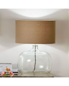 Islay Clear Bubble Glass Oval Table Lamp - Base Only