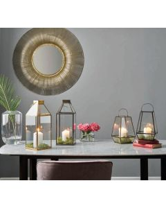 Jacob Gold Metal Wire Round Wall Mirror