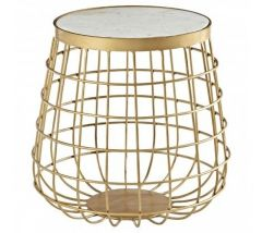 Kanpur Brass Basket Side Table