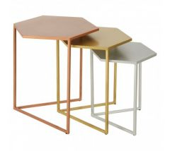 Karolina Nest Of 3 Hexagonal Side Table