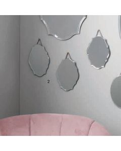 Katie Set of 3 Glass Scalloped Wall Mirrors