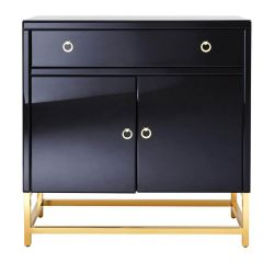 Kent Townhouse Black and Gold Cabinet