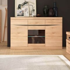 Kensington 3 Door 3 Drawer Glazed Sideboard