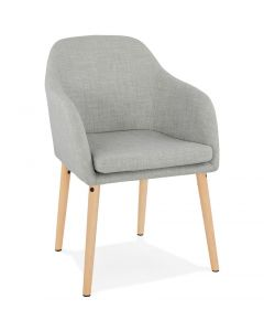 Kristina Light Grey Fabric Arm Chair