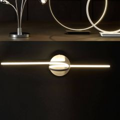 Langston Black LED Spiral Wall Light
