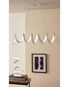Langston LED White Spiral Pendant