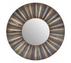 Linda Brown Wooden Wall Mirror