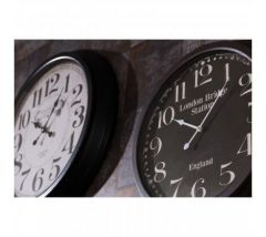 London Bridge Black Iron Wall Clock