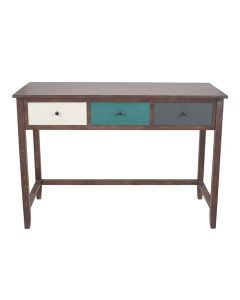Loft Pine Wood Multicoloured 3 Drawer Home Desk