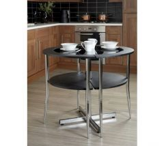 Love Dining Set In Black And Chrome