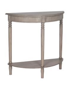Matilda Taupe Pine Half Moon Console Table