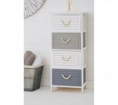 Maine Multi Colour 4 Drawer Chest/Tallboy