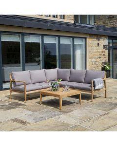 Malta Natural Finished Lounge Corner Set