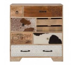 Mara Mango Wood Colourful Chest of Drawers
