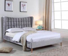 Mathilde Silver Velvet Bed Frame
