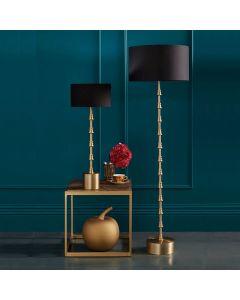 Matt Brass Candlestick Floor Lamp & Feature Foot - Base Only