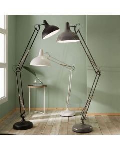 Matt White Metal Task Floor Lamp