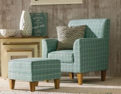 Medan Coastal Edition Teal Check Chair