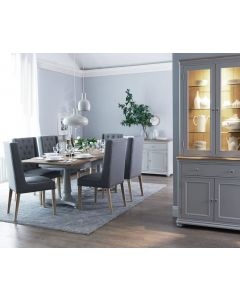 Mendes Soft Grey Large Sideboard