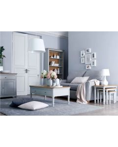 Mendes Soft Grey Large Bookcase