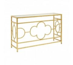 Merlin Gold Leaf Console Table