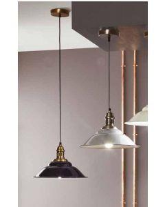Metal Navy & Antique Brass Pendant