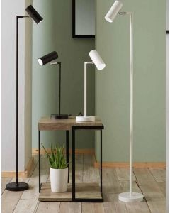White Metal Spotlight Task Floor Lamp