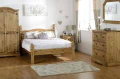 Mexican Pine Princess Double Bed Frame