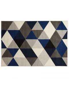 Millie Blue Diamond Pattern Rug