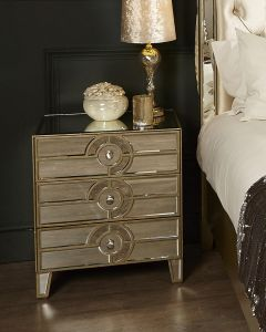 Mirrored Antique Gatsby 3 Drawer Cabinet