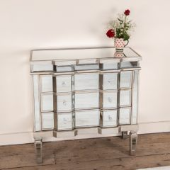 Mirrored Antique Old Venetian Chest of Drawers