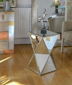 Torino Mirrored Distressed Venetian Stand/Table