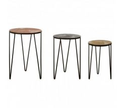 Miza Set of 3 Aluminium Side Tables