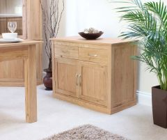 Modern Light Oak Small Sideboard
