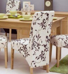 Modern Light Oak Upholstered Dining Chair (Pack Of Two)