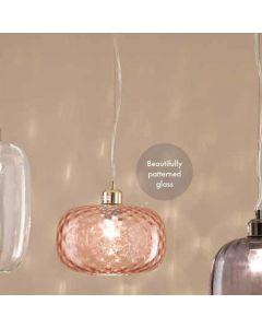 Monroe Rose Textured Glass Oval Pendant