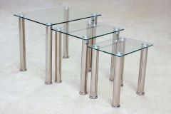 Montreal Clear Glass Nest of Tables