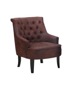 Mumford Brown Leather Effect Chair