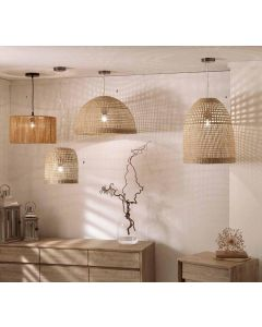 Natural Woven Seagrass Dome Pendant Shade