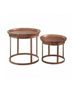 Nest Copper Finished Set of 2 Tables