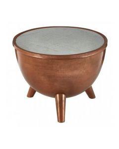 Nest Copper and Marble Side Table