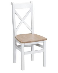 Newholme White Cross Back Chair - Box of 2