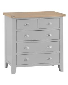 Newsome Grey Oak 5 Drawer Chest