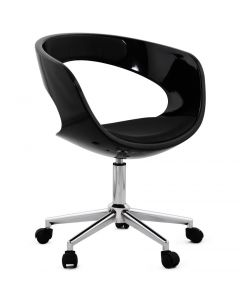 Nichole Black Bowl Open Back Office Chair
