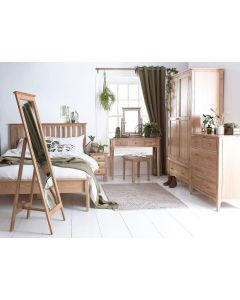 Noah Oak Slatted Bed Frame