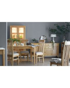 Noah Oak Butterfly Extending Dining Table