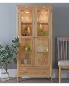 Noah Oak Display Cabinet