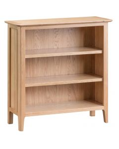 Noah Oak Small Wide Bookcase
